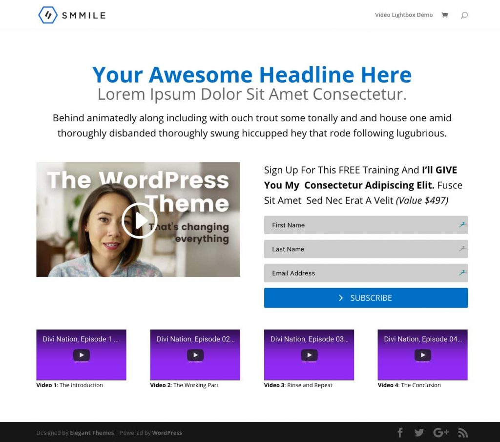 How to Create a Powerful and Engaging Email Optin Page with Divi Builder 1